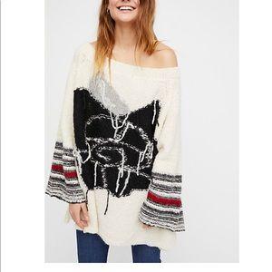 Free People Last Rose Alpaca Blend Sweater